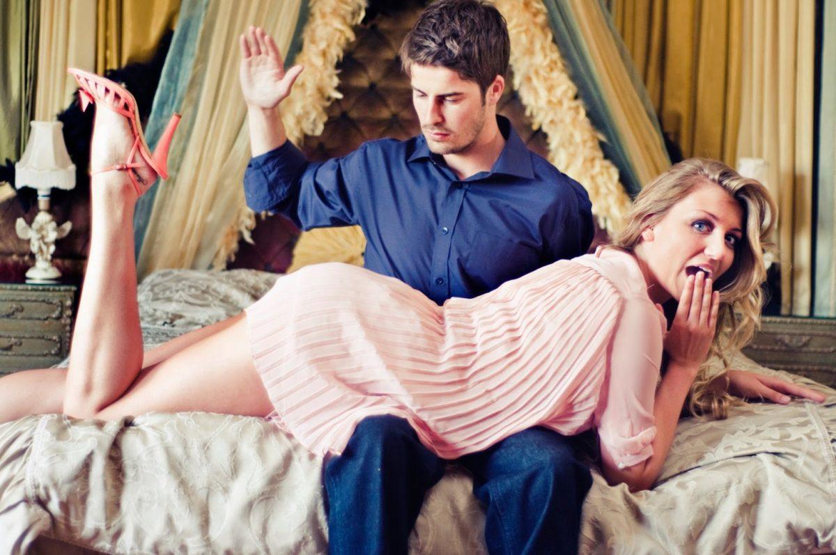 man spanking woman dominant
